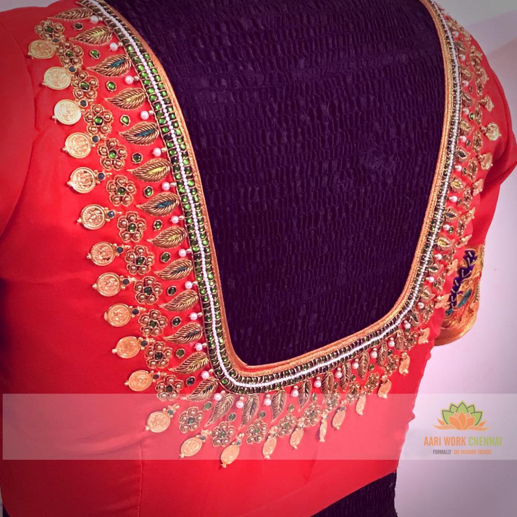 Kasu work blouse designs