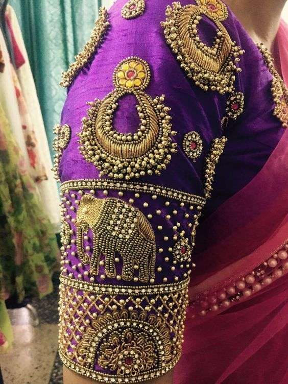 Aari Embroidery Work And Bridal Blouse Design Chennai